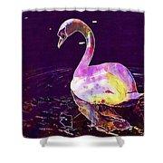 Swan Water Bird Water River  Shower Curtain