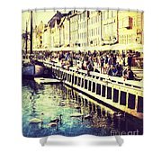 Swans In Nyhavn Shower Curtain