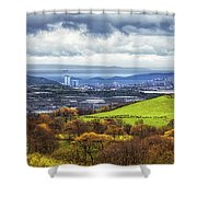 Swansea And Mumbles Shower Curtain