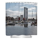 Swansea Marina Shower Curtain