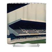 Swansea - Vetch Field - East Terrace 2 - 1970s Shower Curtain