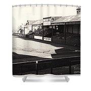 Swansea - Vetch Field - North Bank 1 - Bw - 1960s Shower Curtain