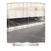 Swansea - Vetch Field - South Stand 1 - Bw - 1960s Shower Curtain