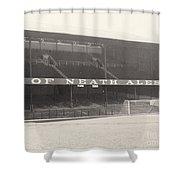 Swansea - Vetch Field - West Terrace 1 - Bw - 1960s Shower Curtain
