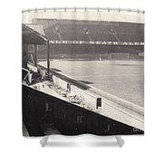Swansea - Vetch Field - West Terrace 2 - Bw - 1960s Shower Curtain