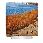 Swath Of Gold In Centerport, New York Shower Curtain