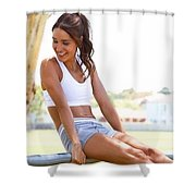 Sweat With Kayla Recipes Shower Curtain