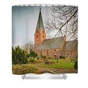 Swedish Brick Church Shower Curtain