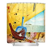 Sweepin' It Up Shower Curtain