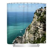 Sweeping Around The Amalfi Coast Shower Curtain