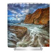 Sweeping Tides Shower Curtain