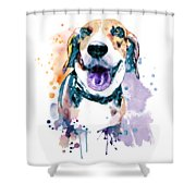 Sweet Beagle Shower Curtain