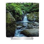 Sweet Creek Falls Vertical Shower Curtain