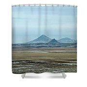 Sweet Grass Hills Pyramids Shower Curtain