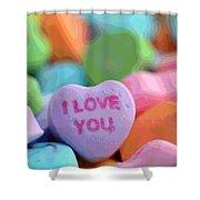 Sweet Hearts Shower Curtain