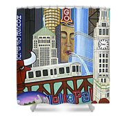 Sweet Home Chicago Shower Curtain