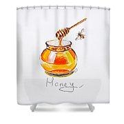 Sweet Honey Shower Curtain