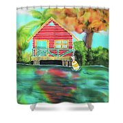 Sweet Island Home Shower Curtain