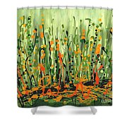 Sweet Jammin' Peas Shower Curtain