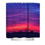 Sweet Nebraska Sunset 004 Shower Curtain