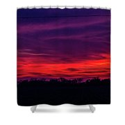 Sweet Nebraska Sunset 005 Shower Curtain