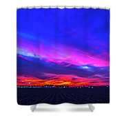 Sweet Nebraska Sunset 001 Shower Curtain