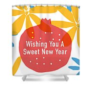 Sweet New Year Card- Art By Linda Woods Shower Curtain