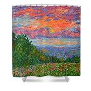 Sweet Pea Morning On The Blue Ridge Shower Curtain