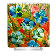 Sweet Peas From Japan Shower Curtain