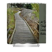 Sweet Springs Nature Preserve Text Shower Curtain