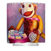 Sweetheart Made Of Sockies Shower Curtain