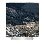 Sweetwater Mountains On California Nevada Border Aerial Photo Shower Curtain