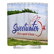 Sweetwater Sign  Shower Curtain