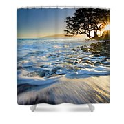 Swept Out To Sea Shower Curtain