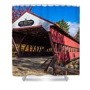 Swift River Bridge Shower Curtain