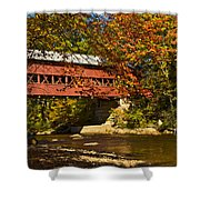Swift River Covered Bridge In Conway New Hampshire Shower Curtain