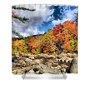 Swift River New Hampshire Shower Curtain