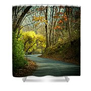 Swift Shoal Road Shower Curtain by Joyce Kimble Smith
