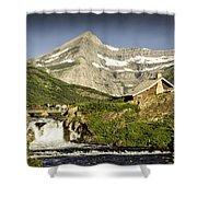 Swiftcurrent Falls Glacier Park 1 Shower Curtain