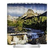 Swiftcurrent Falls Glacier Park 3 Shower Curtain