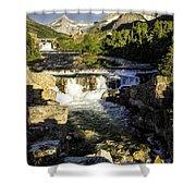 Swiftcurrent Falls Glacier Park 4 Shower Curtain