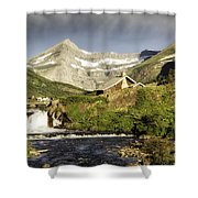 Swiftcurrent Falls Glacier Park Shower Curtain