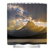 Swiftcurrent Lake Sundown Glacier N P Shower Curtain