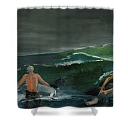 Swim At Your Own Risk Shower Curtain