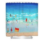 Swim Day Shower Curtain by Jan Matson