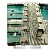 Swim Lanes Shower Curtain