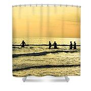 Swim Time Shower Curtain