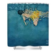 Swimmer In Yellow Shower Curtain