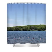 Swimming Area, Thorndike Pond Shower Curtain