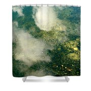 Swimming Clouds Shower Curtain